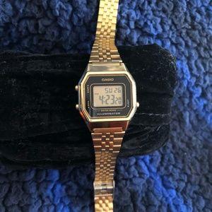Casio gold tone ladies digital watch